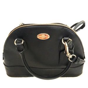 Stylish small black crossbody Coach, almost NEW.